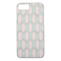 Blush and Mint Modern Geometric Pattern iPhone 7 Case