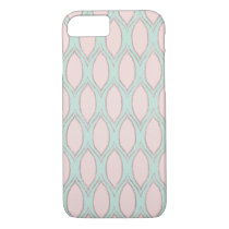 Blush and Mint Modern Geometric Pattern iPhone 8/7 Case