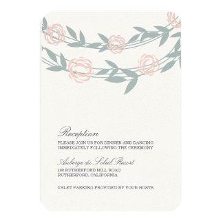 Blush and Sage Botanical Wedding Reception Card