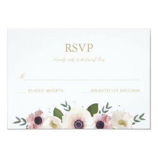 Blush Anemone Bouquet RSVP Card