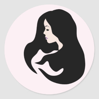 Blush Beauty Icon Classic Round Sticker