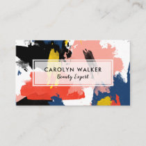 Blush Black & Navy - Abstract Watercolor Business Card