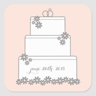 wedding cake bag stickers pink wedding cake stickers zazzle 21785