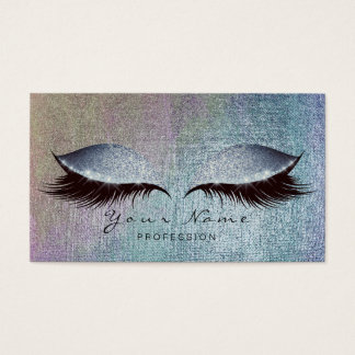 Blush Blue Gray Pain Lashes Makeup Eyes Glitter Business Card