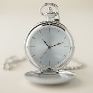 Blush Blue Opalescent Dial Pocket Watch