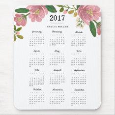 Blush Bouquet 2017 Calendar Mouse Pad at Zazzle