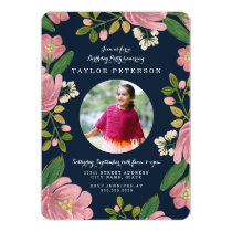 Blush Bouquet Birthday Invitation