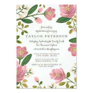 Blush Bouquet Bridal Shower 5x7 Paper Invitation Card