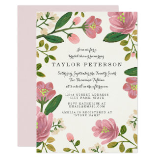 Blush Bouquet Bridal Shower Card