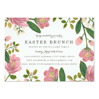 Blush Bouquet Easter Brunch Card