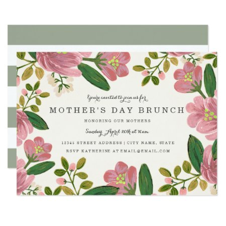 Blush Bouquet Mother's Day Brunch Card