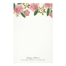 Blush Bouquet Personalized Stationery at Zazzle