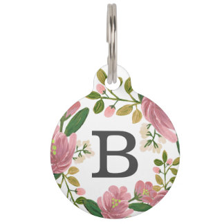Blush Bouquet Pet Tag
