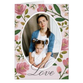 Blush Bouquet Photo Card