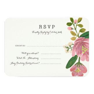 Blush Bouquet Response Card (Detailed)