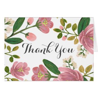 Blush Bouquet Thank You Card