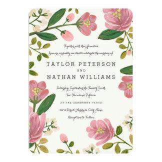 Blush Bouquet Wedding 5x7 Paper Invitation Card