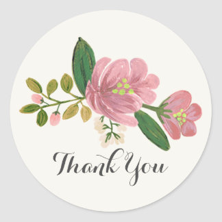Blush Bouquet Wedding Classic Round Sticker