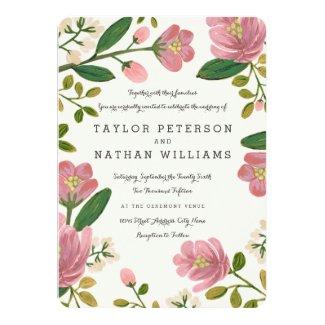 Blush Bouquet Wedding Invitations