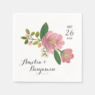 Blush Bouquet Wedding Napkin