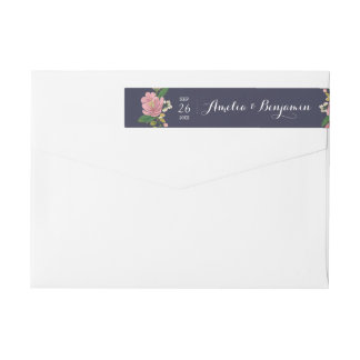 Blush Bouquet Wedding Wrap Around Label
