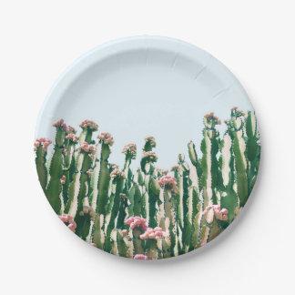 Blush Cactus Paper Plate