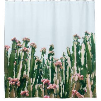 Blush Cactus Shower Curtain