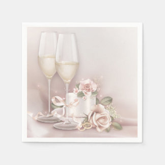 Blush Champagne and Cake Napkin