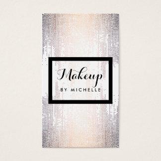 Blush Confetti Dots Makeup Artist Business Card