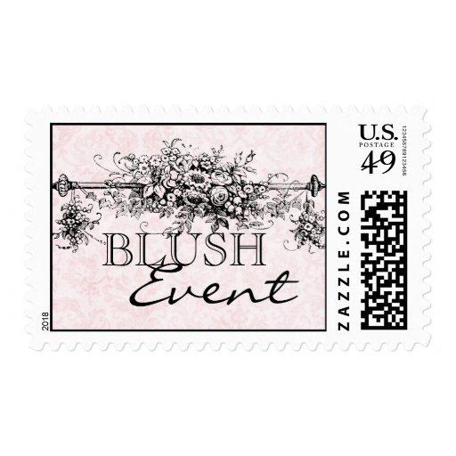 Blush Damask Postage Stamps