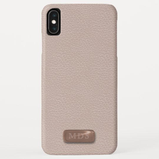 Blush Faux Rose Gold Leather Iphone Xs Max Case Zazzle Com