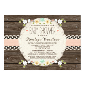 BLUSH FLORAL BOHO BABY SHOWER INVITATIONS