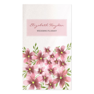 Blush Floral Business Cards