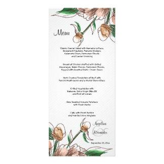 Blush Floral Customizable Wedding Menu Card Rack Cards