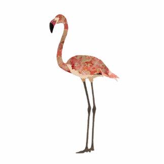 Blush Floral Flamingo Sculpture Photo Cutout