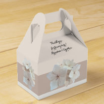 Blush Floral Garden Wedding / Shower Favor Boxes