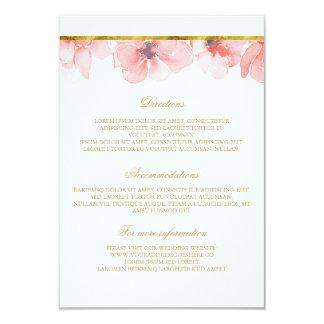 Blush Floral Gold Wedding Details - Information Card