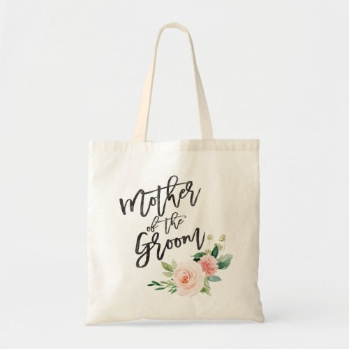 Blush floral mother of the groom tote bag