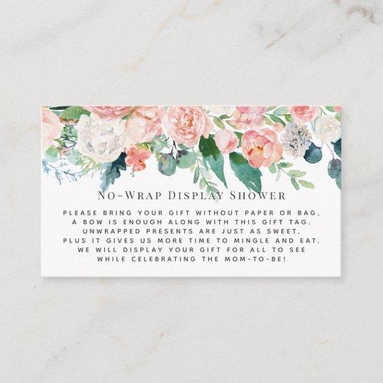 Blush Florals Display Shower Invitation Insert