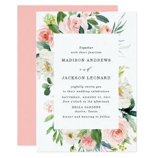 Blush Florals | Floral Frame Wedding Invitation