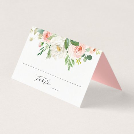 Blush Florals | Personalized Wedding Place Card
