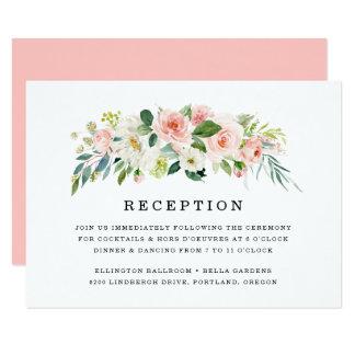 Blush Florals | Wedding Reception Card