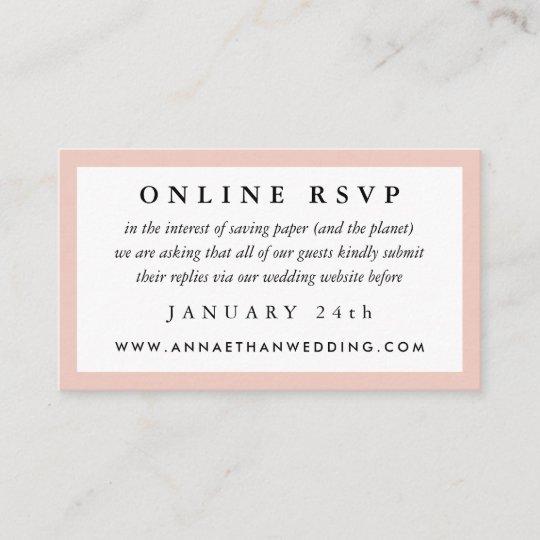 Online Wedding Invitation Websites: Blush Frame Wedding Online RSVP Card