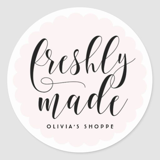 Blush freshly made modern calligraphy business classic
