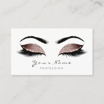 Blush Glitter Makeup Artist Lashes Beauty Studio Appointment Card