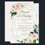 "Blush Gold Floral Brunch And Bubbly Bridal Shower Invitation<br><div class=""desc"">More modern floral Wedding Bridal Shower Invitations in the Little Bayleigh Store!</div>"