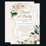 "Blush Gold Floral Brunch And Bubbly Bridal Shower Invitation<br><div class=""desc"">More modern floral Wedding Bridal Shower Invitations in the Little Bayleigh Store!</div>"