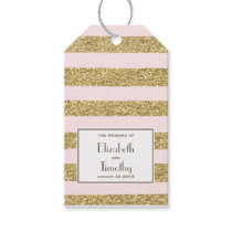 Blush Gold Glitter Favor Tags