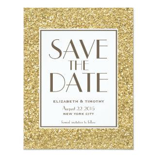 Blush Gold Glitter Save the Date Card