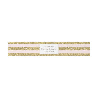 Blush Gold Glitter stripes Belly band